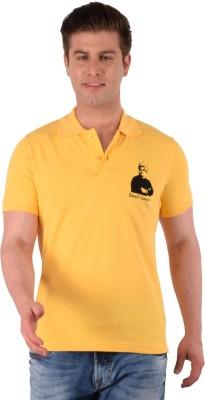 Vivekananda Youth Connect Printed Men's Polo Neck Yellow T-Shirt