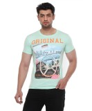 Rose Taylor Printed Men's Round Neck Gre...