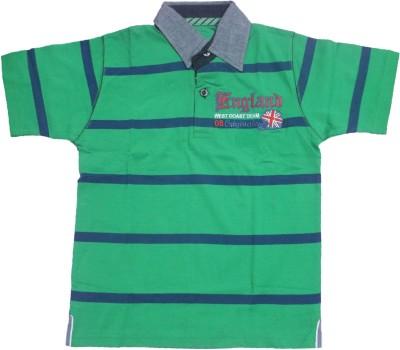 Mankoose Striped Boy's Flap Collar Neck T-Shirt