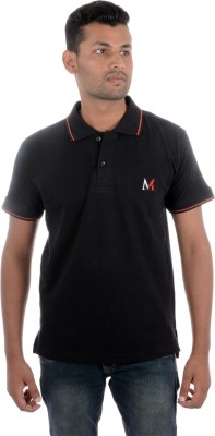 Moladz Solid Men's Polo Neck T-Shirt