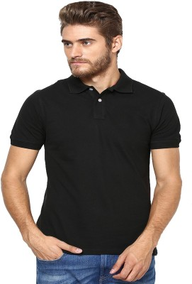 Lee Mark Solid Men's Polo Neck T-Shirt