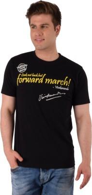 Vivekananda Youth Connect Printed Men's Round Neck Black T-Shirt