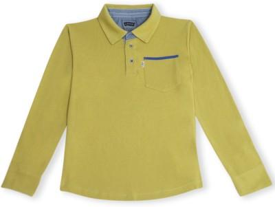 Levis Kids Solid Boy's Polo Light Green T-Shirt