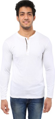 Five Stone Solid Men's Henley White T-Shirt