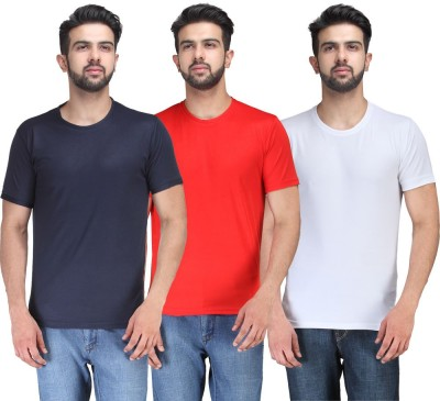 TSX Solid Men's Round Neck Multicolor T-Shirt