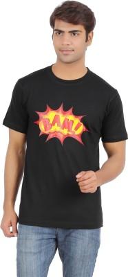 Griteez Printed Men's Round Neck Black T-Shirt