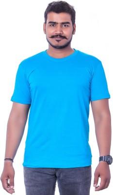 Colours99 Solid Men,s, Boy's Round Neck Light Blue T-Shirt