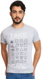 Silly People Printed Men's Round Neck Gr...