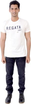 PETROFICIO Solid Men's Round Neck White T-Shirt