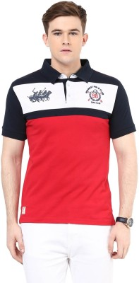 Ziera Printed Men's Polo Red T-Shirt