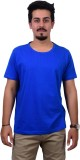 Ditto Solid Men's Round Neck Blue T-Shir...