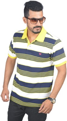 Woodside Solid Men's Polo Yellow T-Shirt