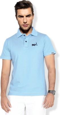 Erdferkel & Wobbegong Solid Men's Polo Neck Light Blue T-Shirt