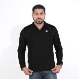 DS WORLD Solid Men's Polo Neck Black T-S...