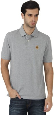 Fahrenheit Solid Men's Polo Neck Grey T-Shirt