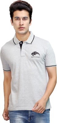 CATAMONT Solid Men's Polo Grey T-Shirt
