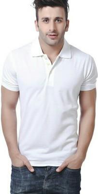 YouthTees Solid Men's V-neck White T-Shirt