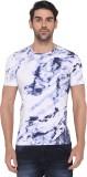JadeBlue Printed Men's Round Neck White ...