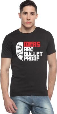 SHARQ Printed, Graphic Print Men's Round Neck Black T-Shirt