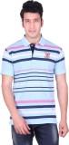 PICKLE Solid, Striped Men's Polo Neck Bl...