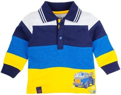 Mom & Me Striped Boy's Polo Multicolor T-Shirt