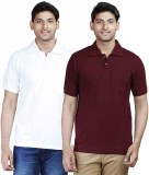 Fleximaa Solid Men's Polo Neck Maroon, W...