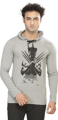 Alan Jones Printed Men's Hooded Grey T-Shirt