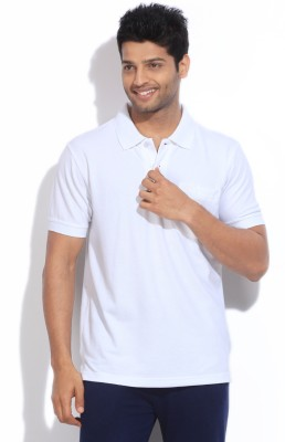 Dixcy Scott Solid Men's Polo White T-Shirt