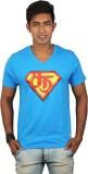 Dude Tamizha Printed Men's V-neck Blue T...