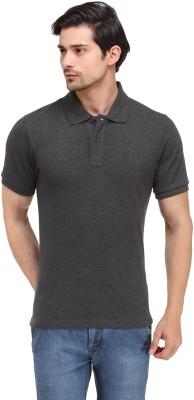 Happy Hippie Solid Men's Polo Grey T-Shirt