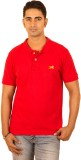 Bleidd Solid Men's Polo Neck Red T-Shirt