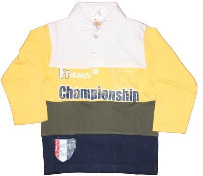 Cotlor Striped Baby Boy's Polo Multicolor T-Shirt