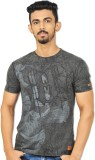 Riot Jeans Printed Men's Round Neck Blac...