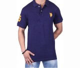Ganesh Creation Solid Men's Polo Neck Bl...