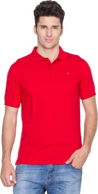 Fort Collins Solid Men's Polo Neck Red T-Shirt