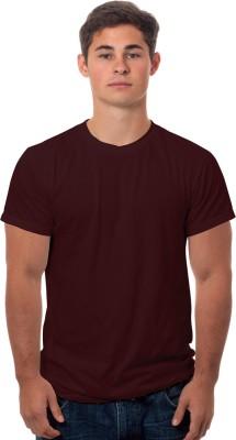 99Tshirts Solid Men's Round Neck Maroon T-Shirt