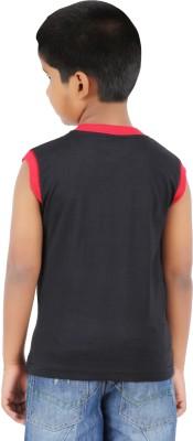 Harsha Avatar Graphic Print Boy's Round Neck Black T-Shirt
