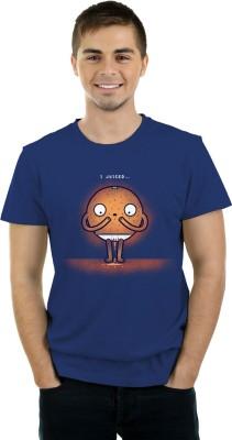 THREADCURRY Graphic Print Men's Round Neck Blue T-Shirt