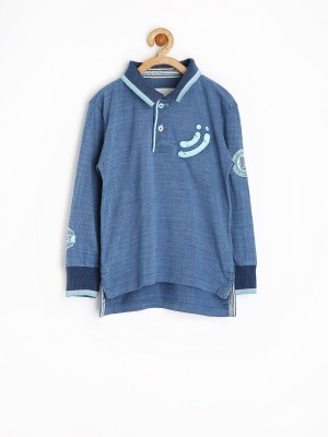 Jn Joy Solid Boy's Polo Neck T-Shirt