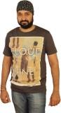 Skin It Printed Men's Round Neck Grey T-...