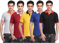 Lime Men's Wear - Lime Solid Men's Polo Neck Black, Blue, Yellow, Maroon, Grey T-Shirt