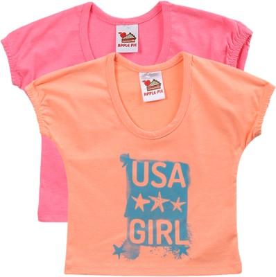 Apple Pie Printed Baby Girl's Round Neck T-Shirt