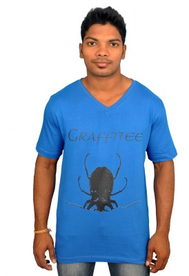 Graffitee Graphic Print Men's V-neck T-Shirt