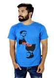 Glittarati Printed Men's Round Neck Blue...