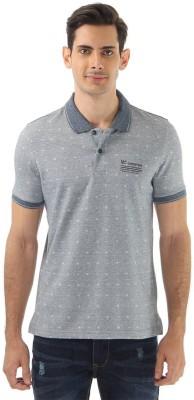 Monte Carlo Printed Men's Polo Neck Grey T-Shirt