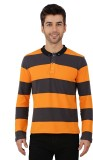 Nick & Jess Striped Men's Polo Neck Oran...