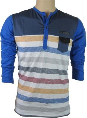 INDIANAVEGAS Self Design Men's Round Neck Multicolor T-Shirt