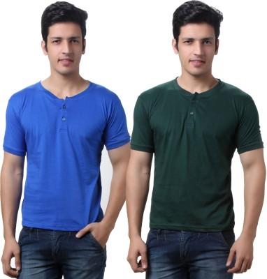 TeeMoods Solid Mens Henley T-Shirt