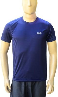 2go Solid Men's Round Neck Dark Blue T-Shirt