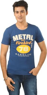 Eddie Van Halen Printed Men,s Round Neck Blue T-Shirt